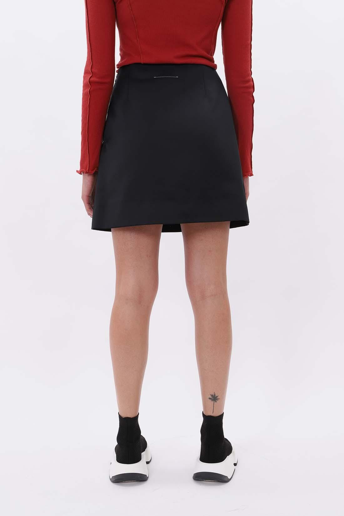 MM6 MAISON MARGIELA / Satin skirt Black