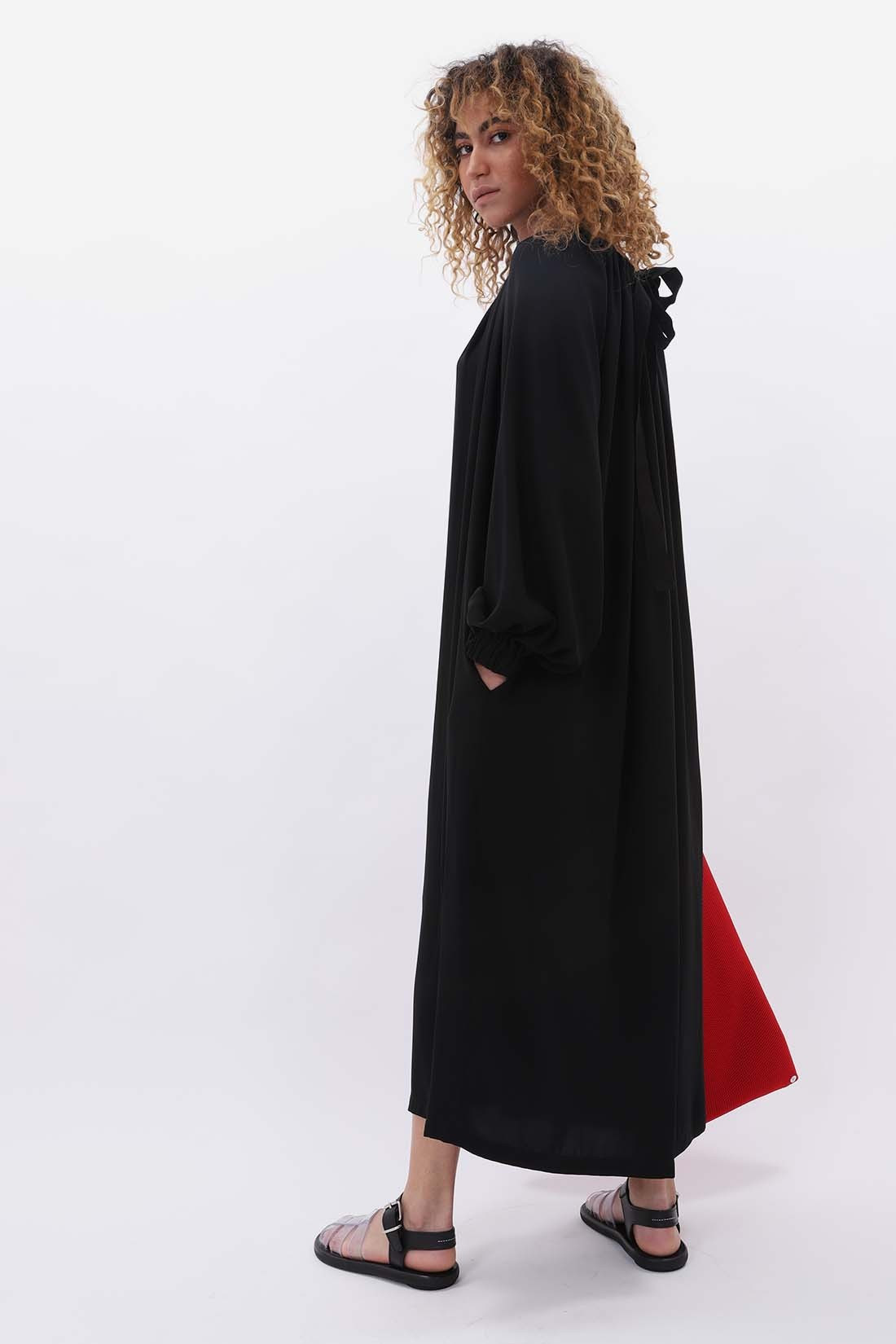 MM6 MAISON MARGIELA / Elastic fluid dress Black