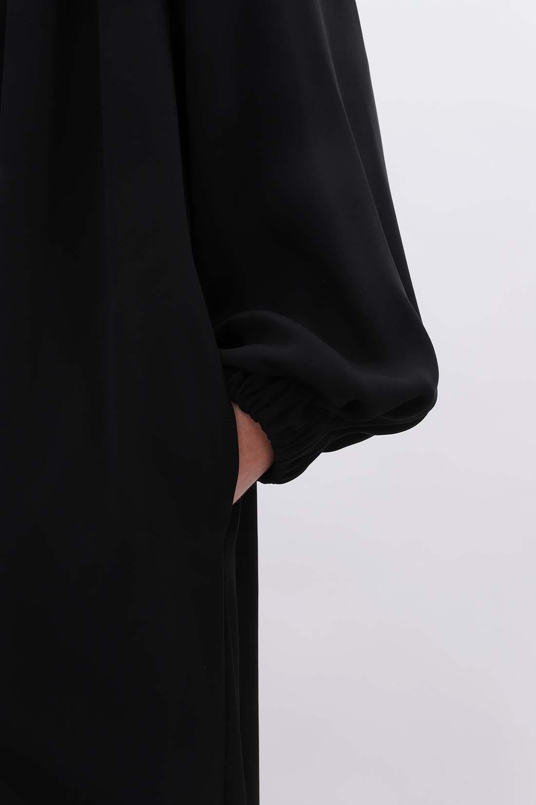 MM6 MAISON MARGIELA FOR WOMAN / Elastic fluid dress Black