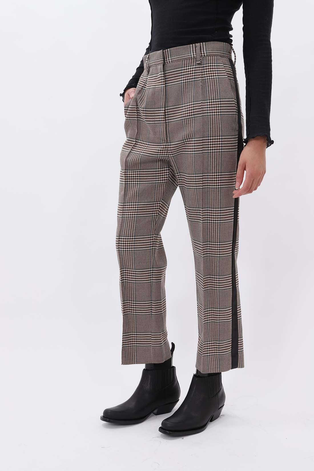 MM6 MAISON MARGIELA / Belt tartan trousers Beige