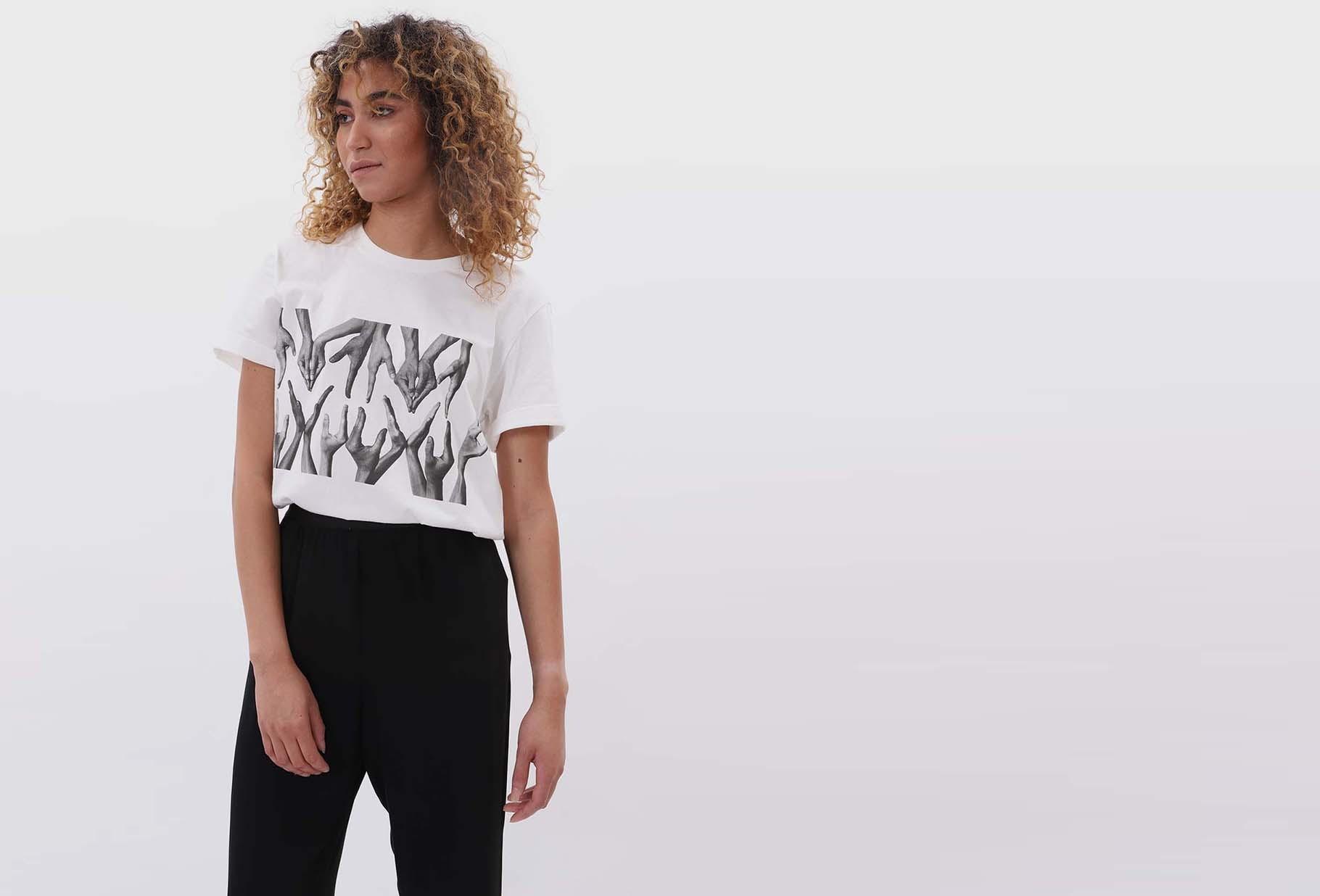 MM6 MAISON MARGIELA FOR WOMAN / Hand t-shirt White