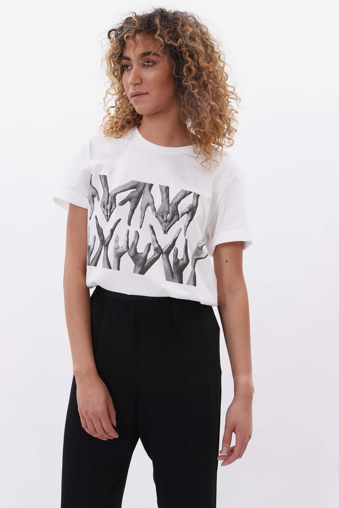 MM6 MAISON MARGIELA / Hand t-shirt White