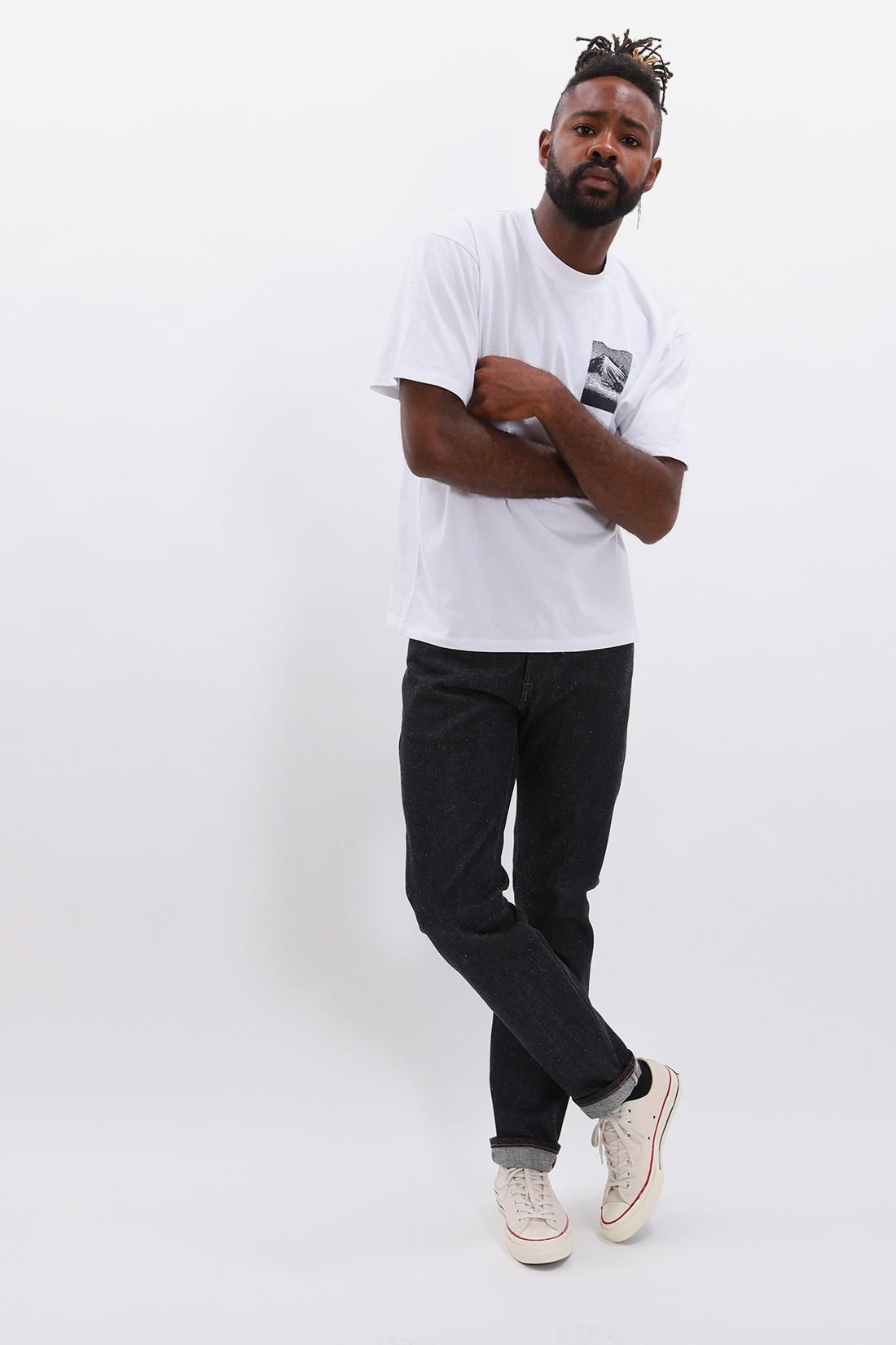 EDWIN / From mt fuji ss tshirt White