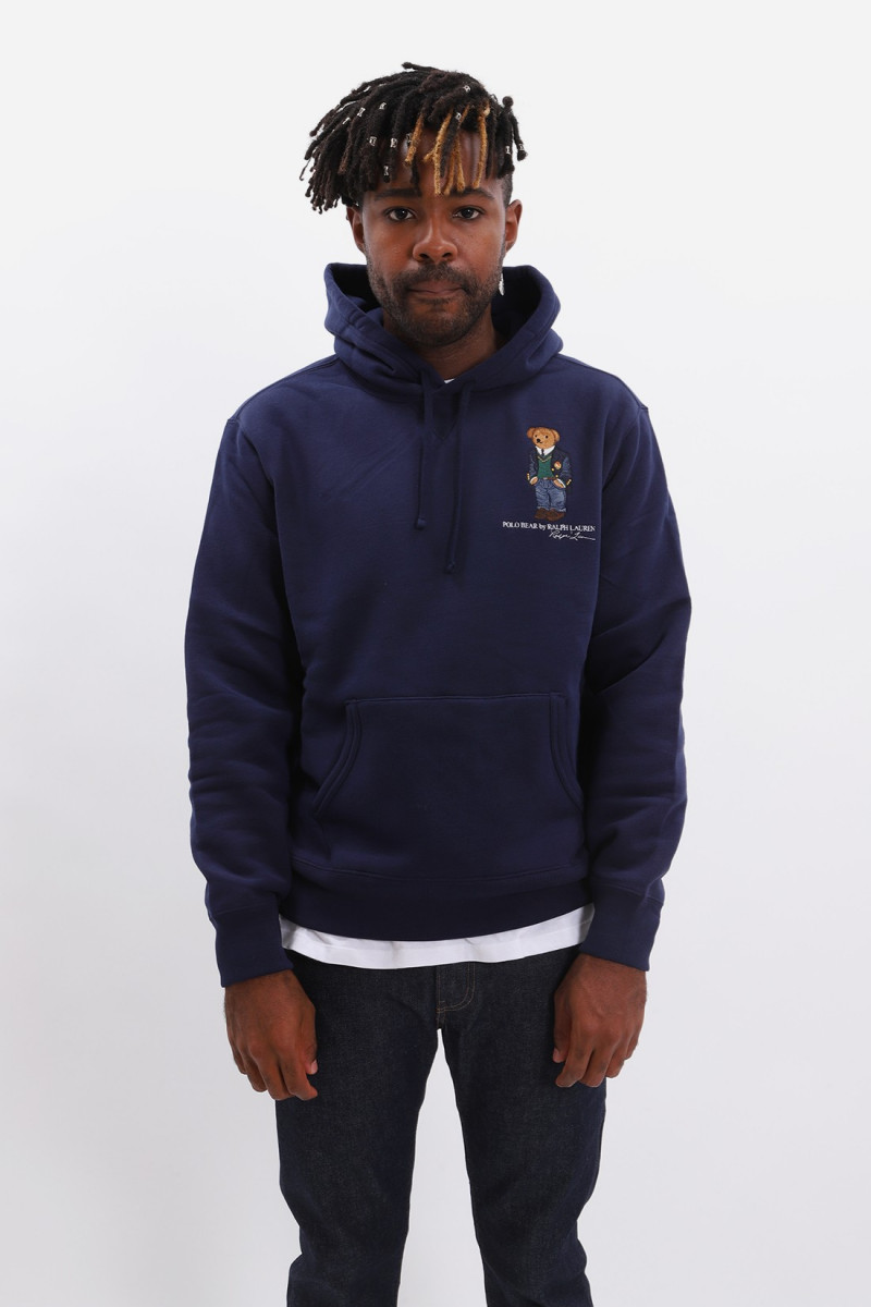 Teddy bear hooded sweat Navy