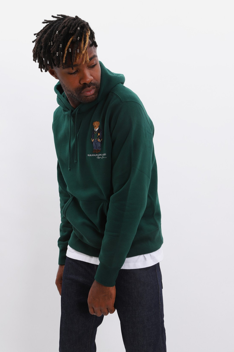 Teddy bear hooded sweat Green
