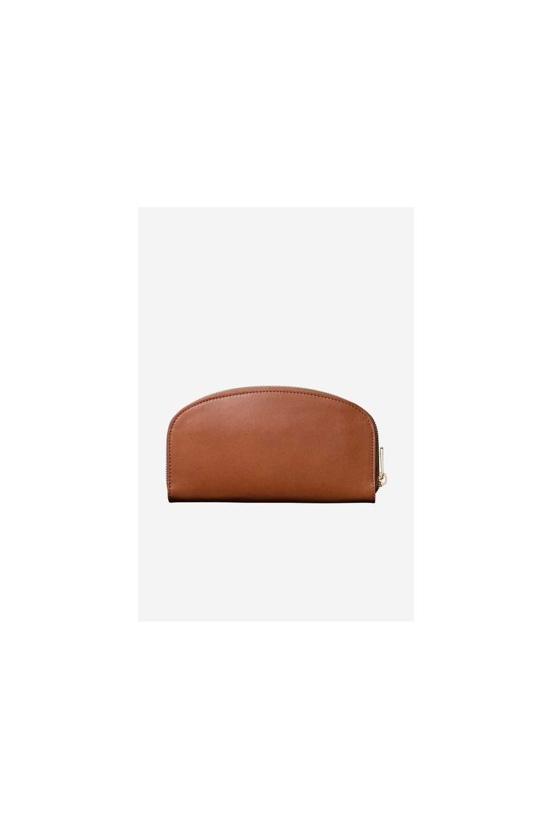 A.P.C. FOR WOMAN / Portefeuille demi-lune Noisette