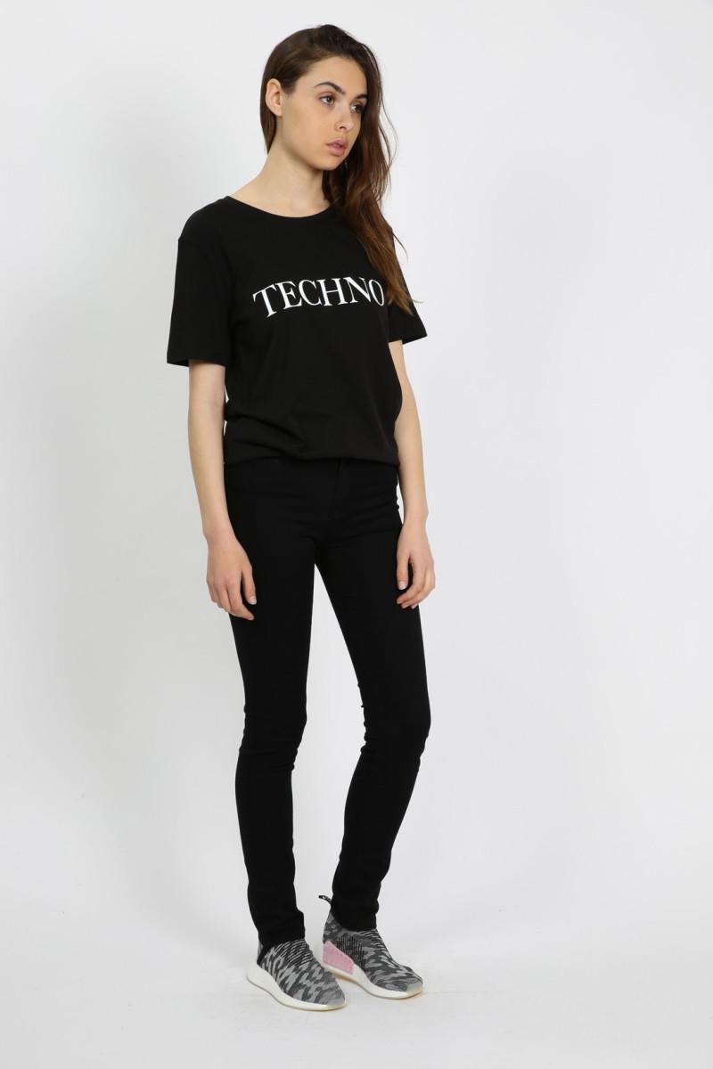 Techno t-shirt Black