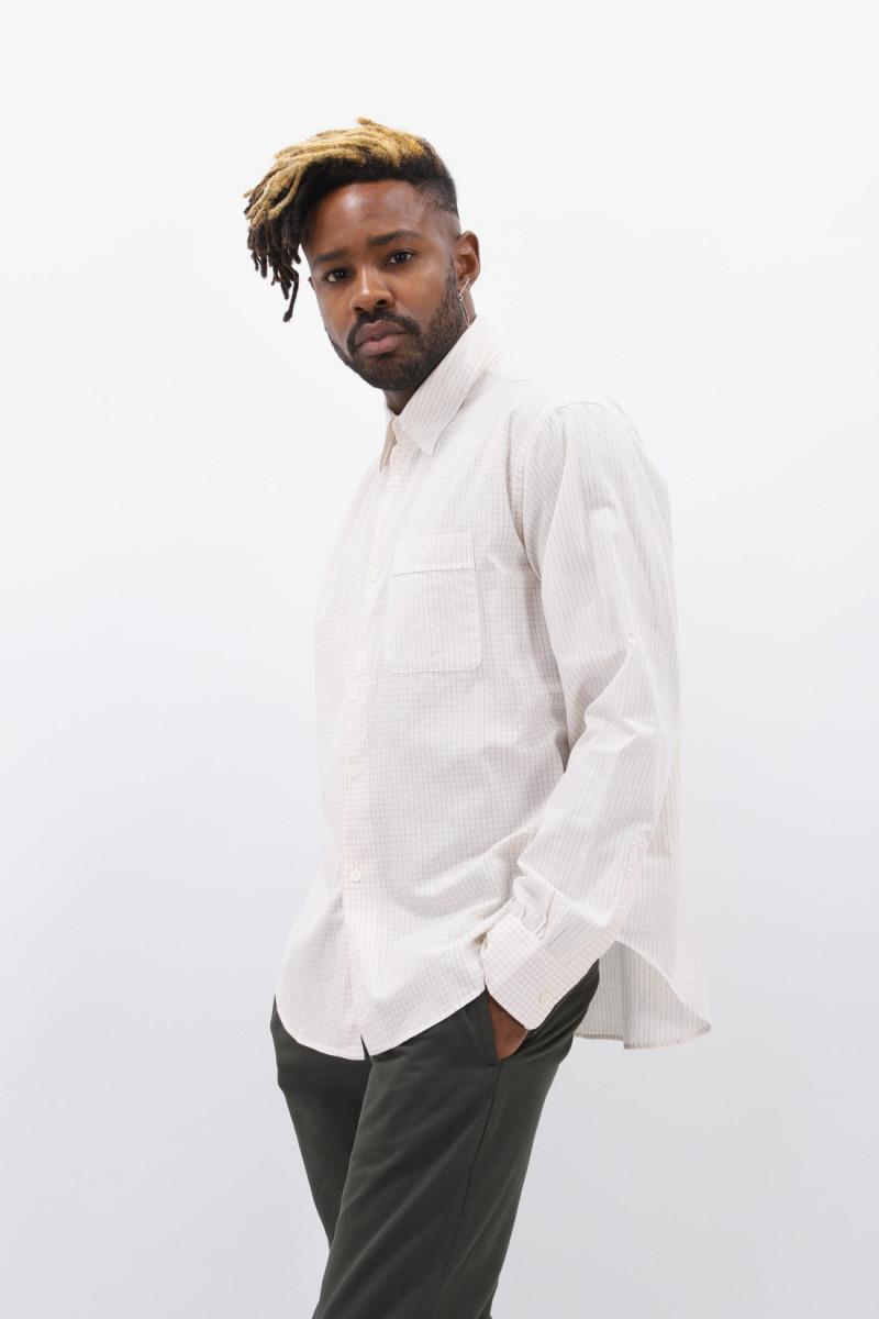 Policy shirt check stripe White