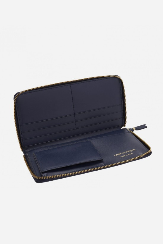 CDG WALLETS FOR WOMAN / Cdg classic leather sa0110 Navy