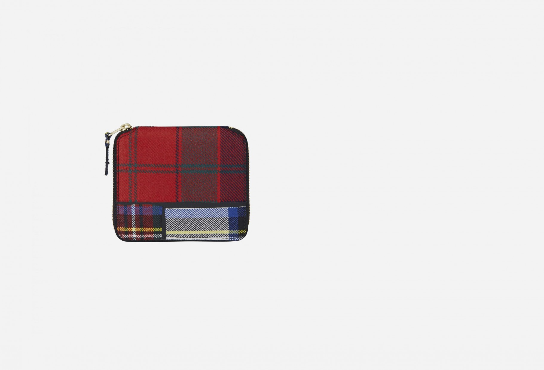 CDG WALLETS / Cdg tartan patchwork sa2100tp Red