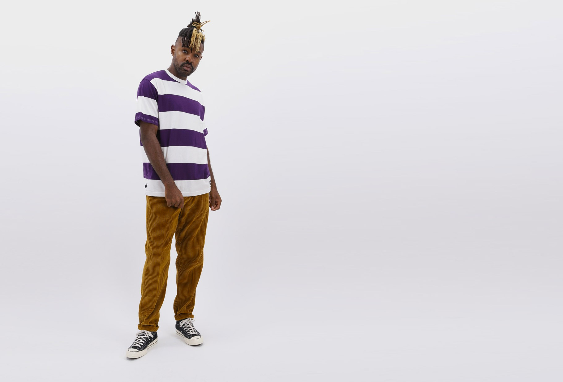 NEIGHBORHOOD / B.d. / c-crew . ss Purple