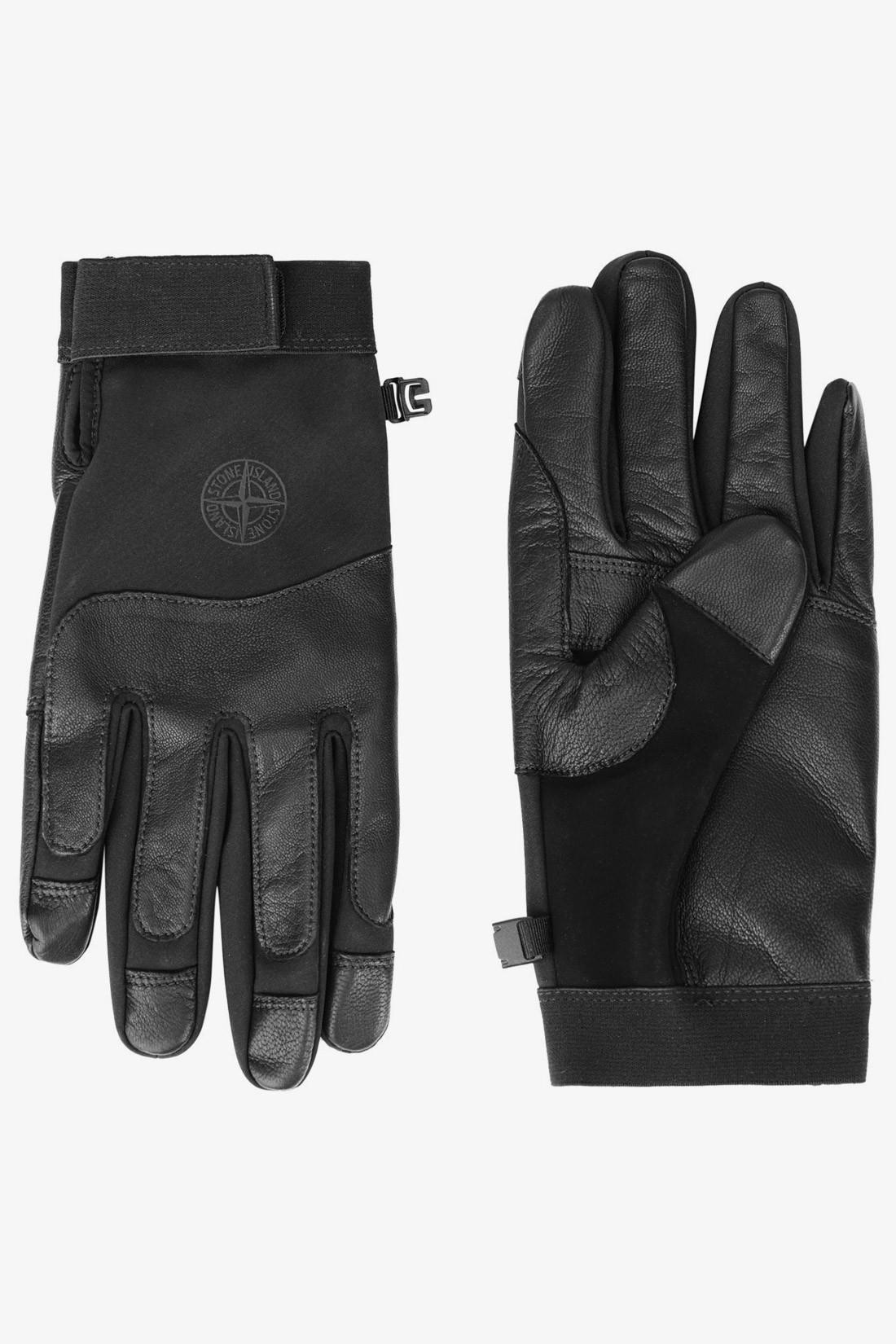 STONE ISLAND / 92174 gloves soft shell-r V0029 nero