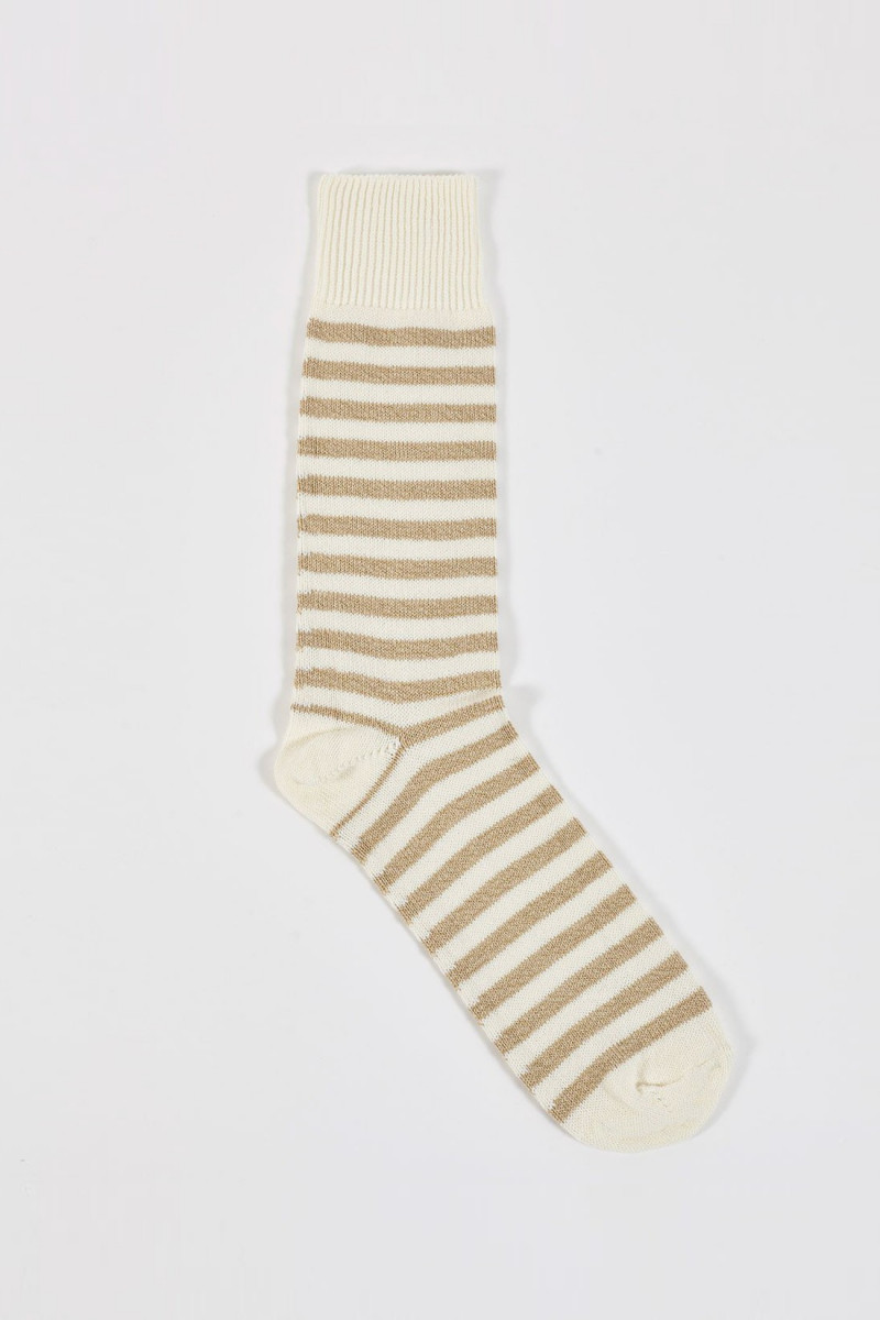 Stripe sock Ecru