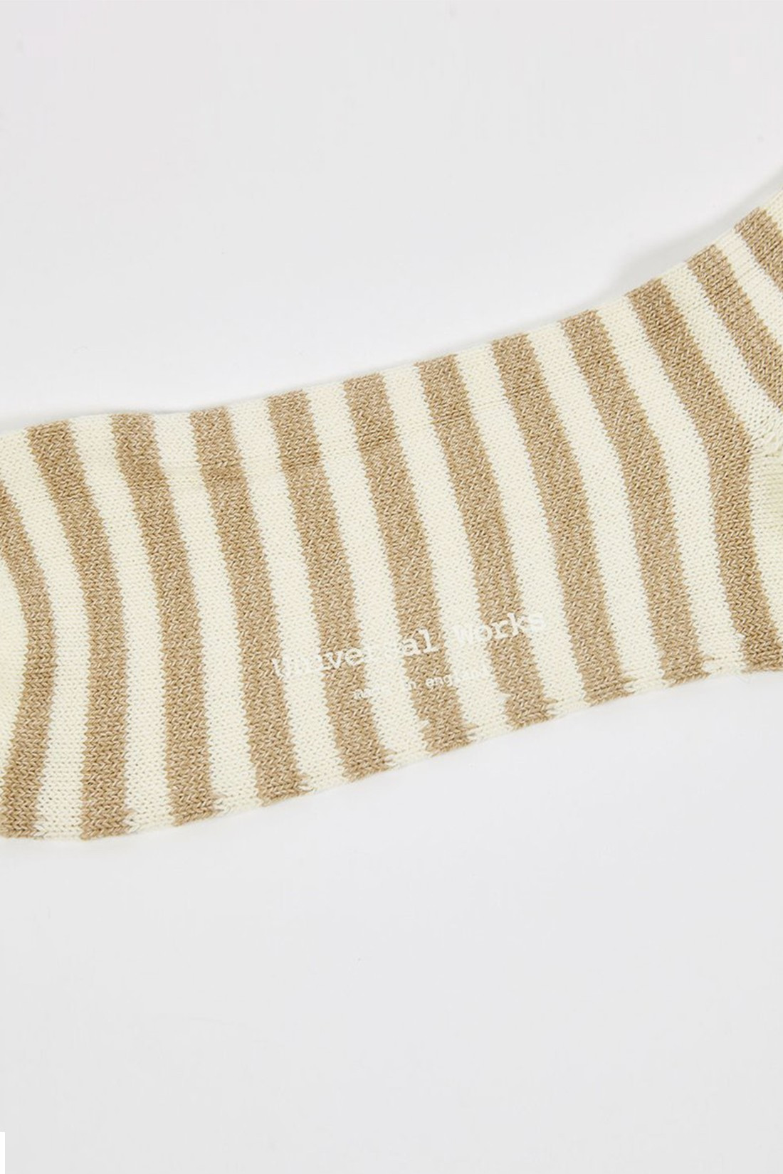 UNIVERSAL WORKS / Stripe sock Ecru