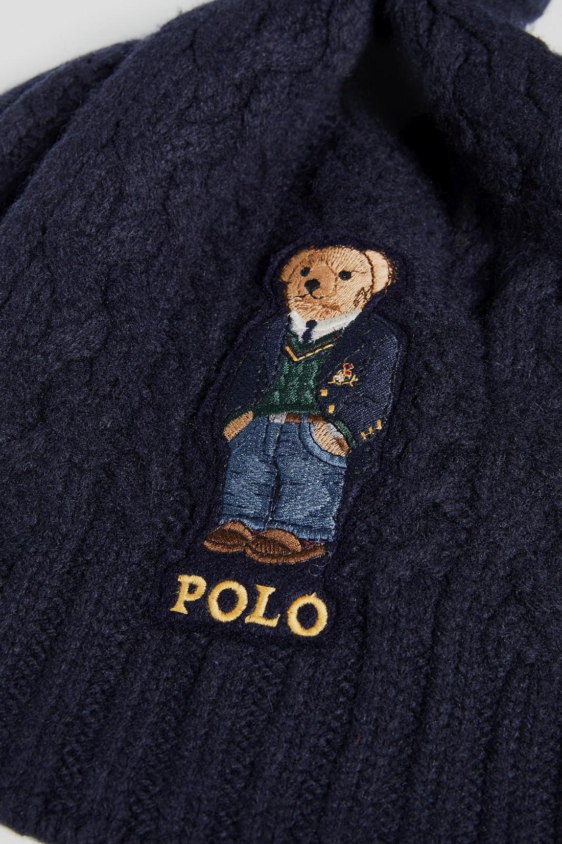 POLO RALPH LAUREN / Polo bear aran scarf Navy