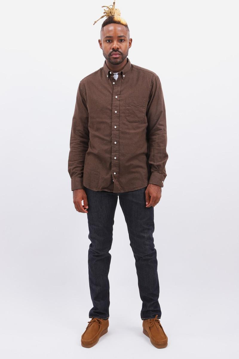 Classic flannel shirt Chocolate