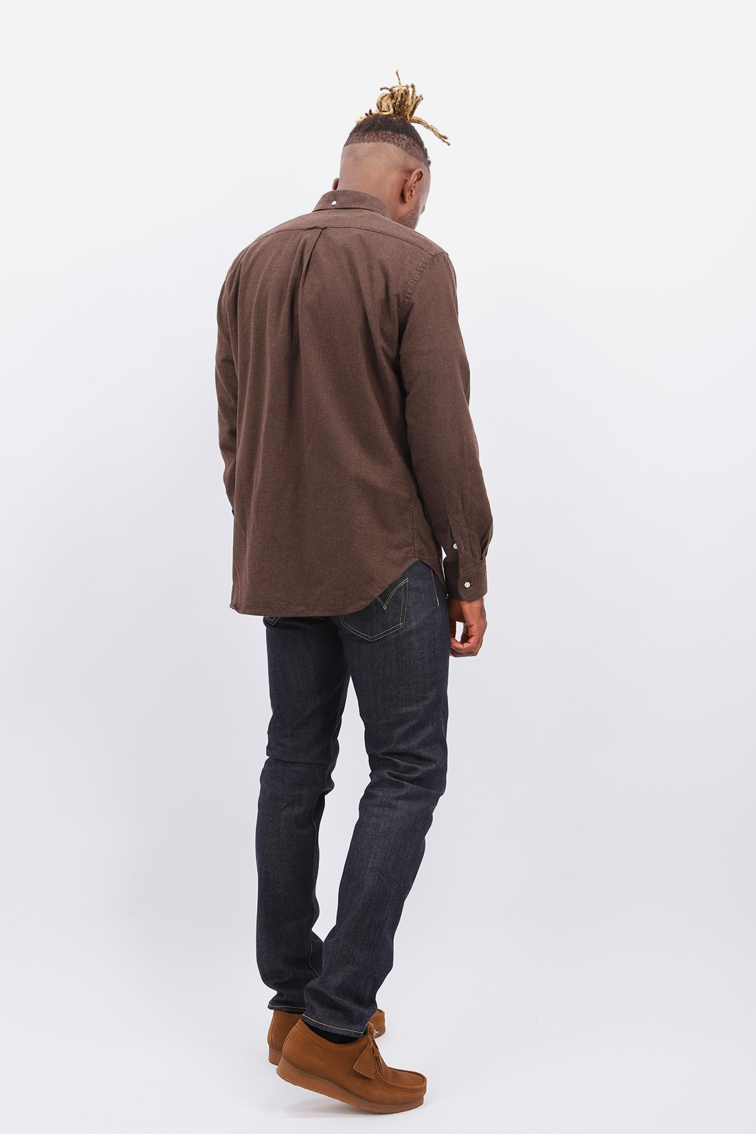 GITMAN / Classic flannel shirt Chocolate