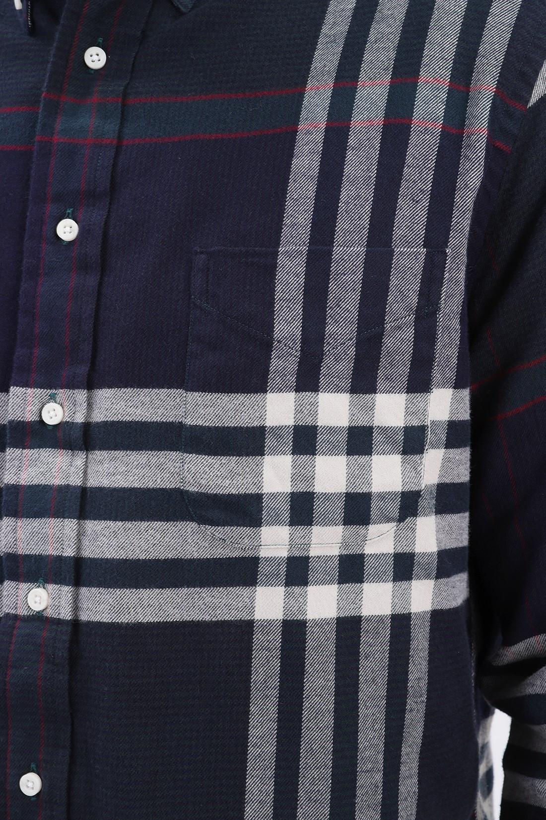 GITMAN / Big tartan flannel shirt Navy red