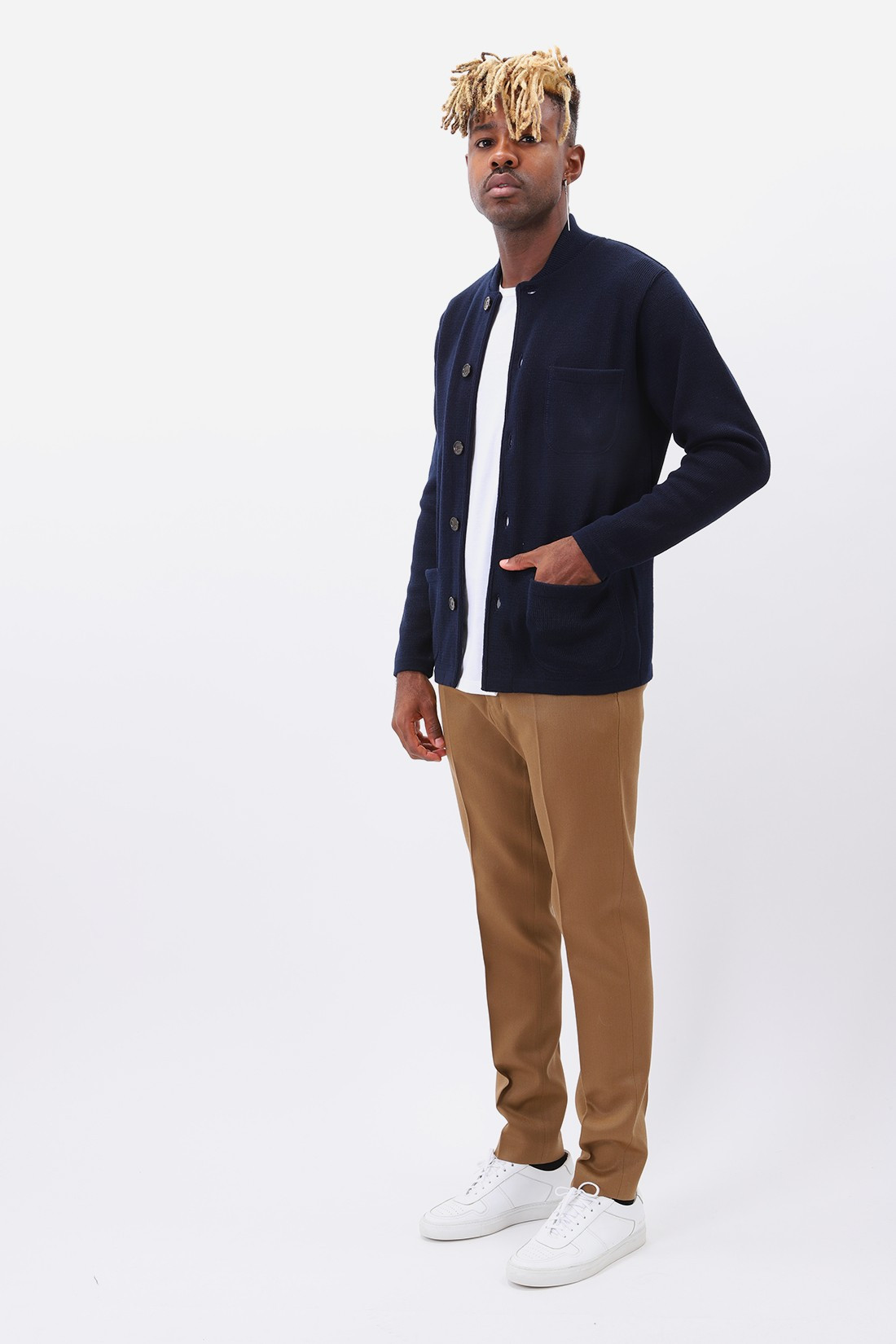 UNIVERSAL WORKS / Knit work jacket merino Navy
