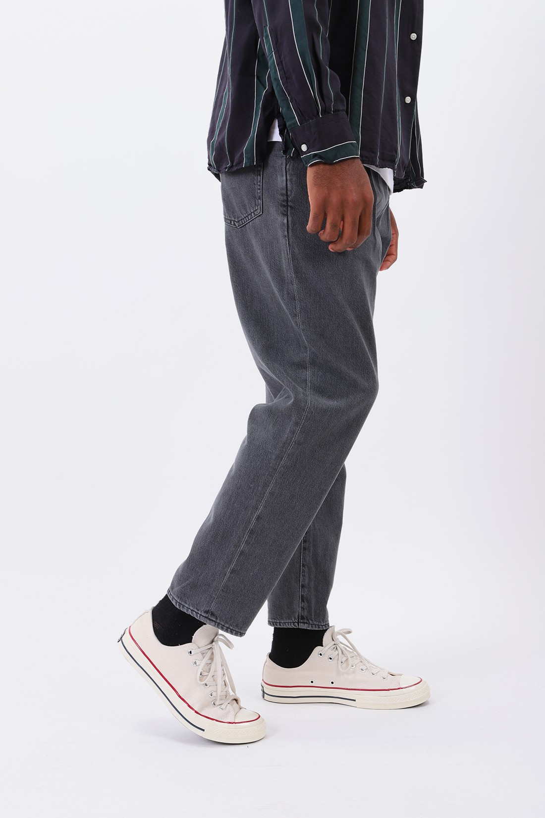 EDWIN / Balder pant kingston denim Black stone bleach