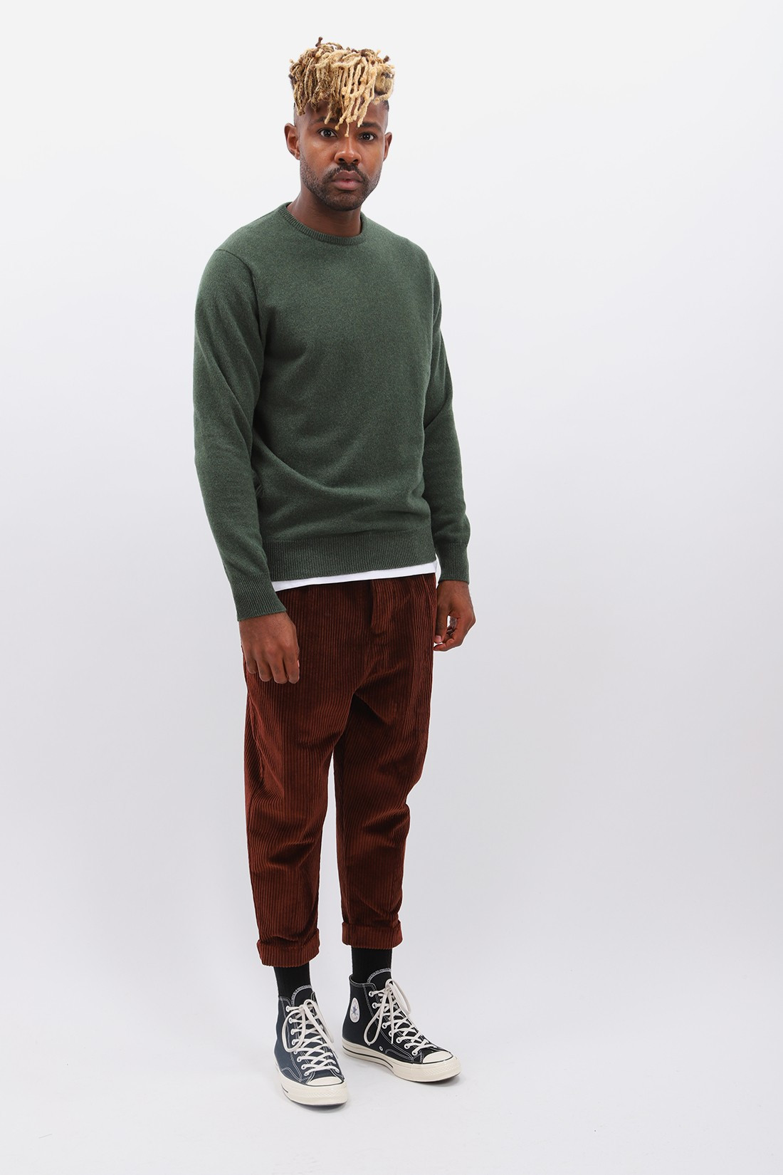 WILLIAM LOCKIE / Lambswool jumper crew neck Rosemary
