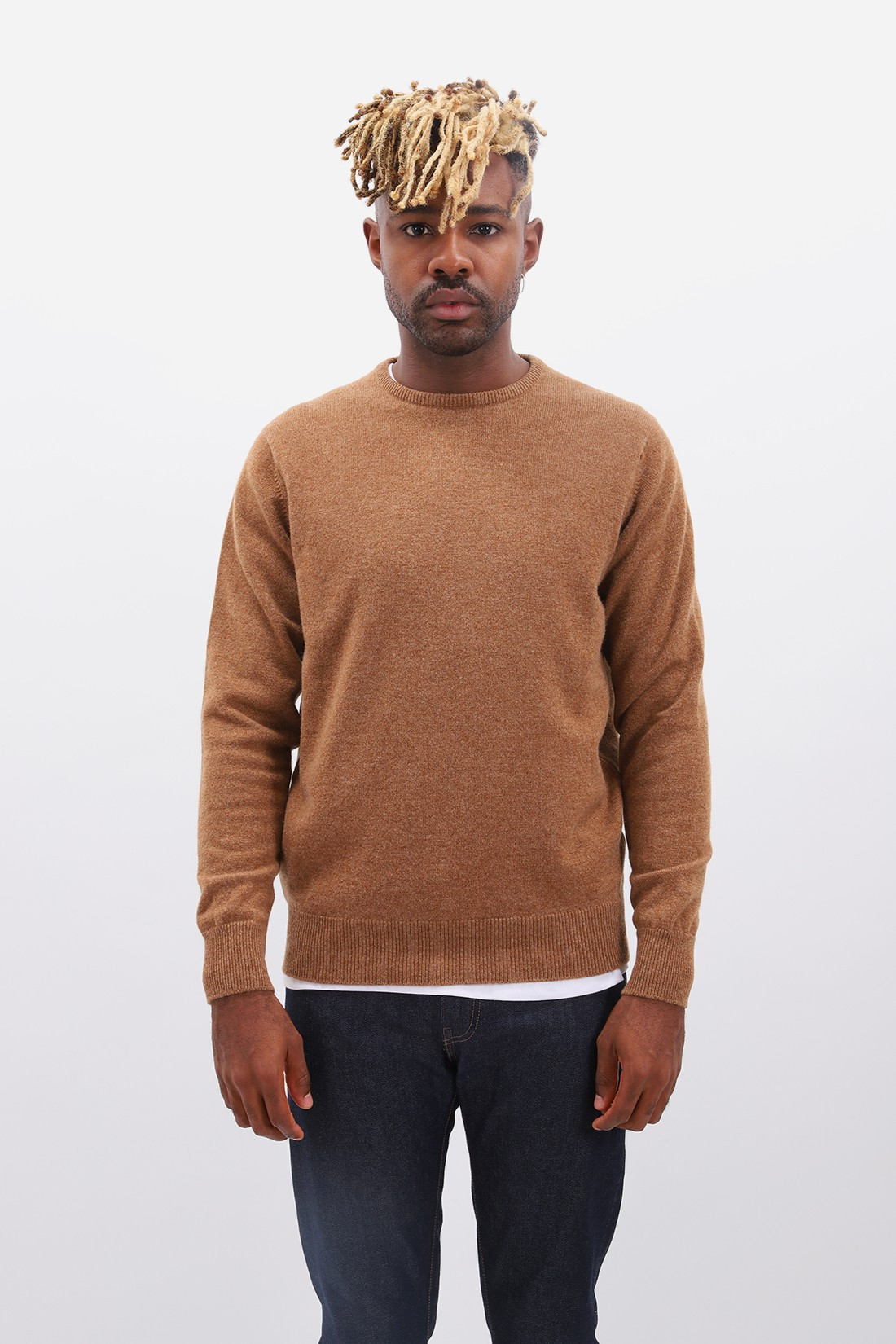 WILLIAM LOCKIE / Lambswool jumper crew neck Savannah
