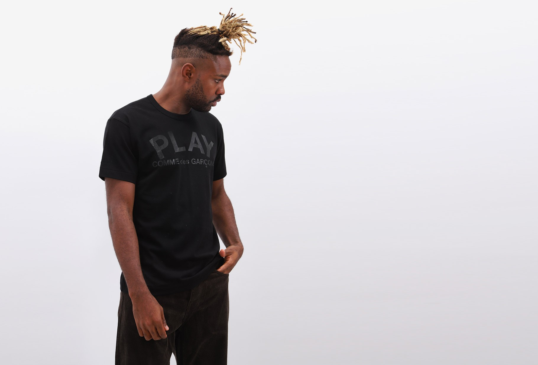 COMME DES GARÇONS PLAY / Play comme des garçons t-shirt Black