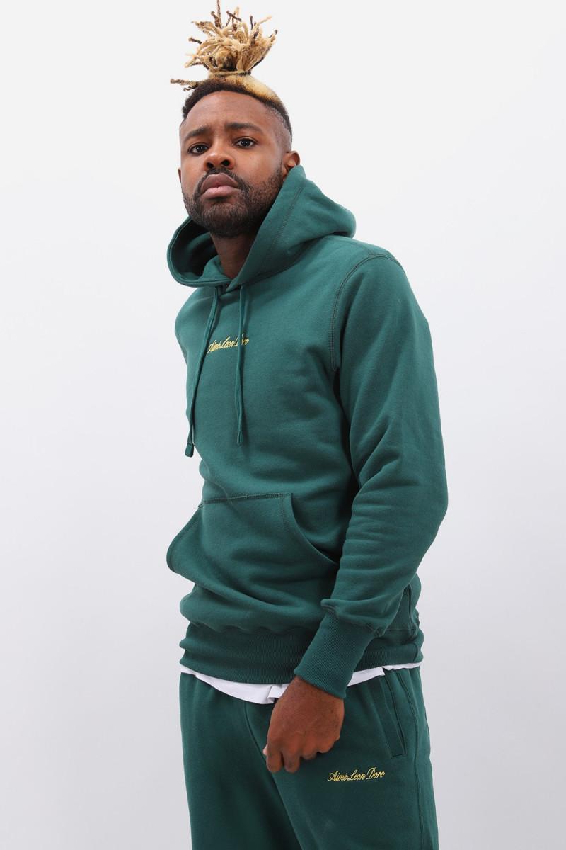 Logo hoodie Botanical green