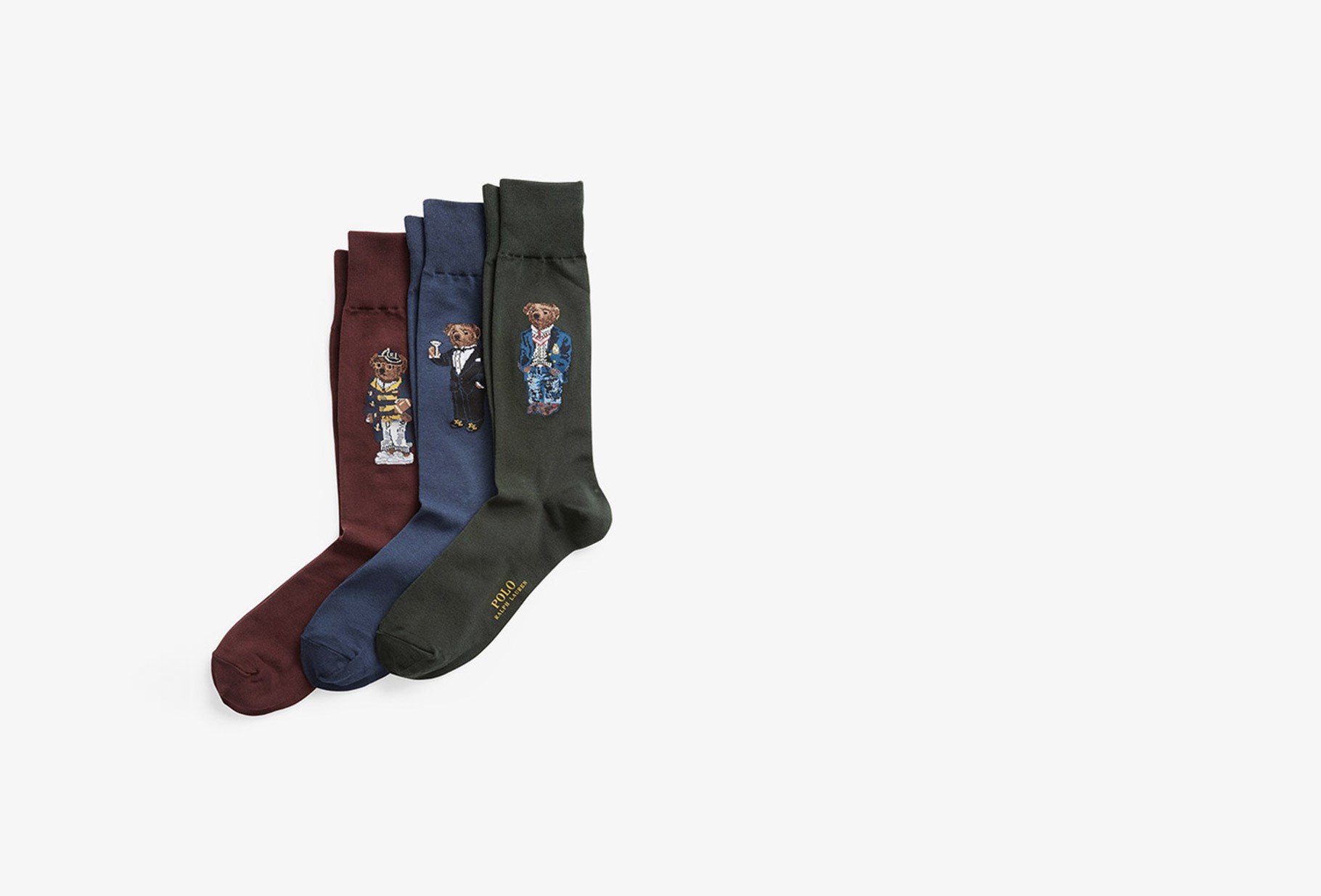 POLO RALPH LAUREN / Gift box socks teddy bear Multi