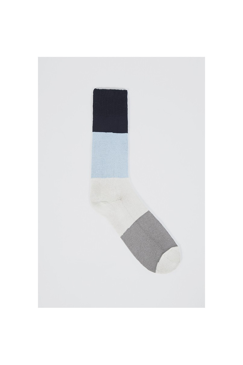 Bold stripe sock Navy