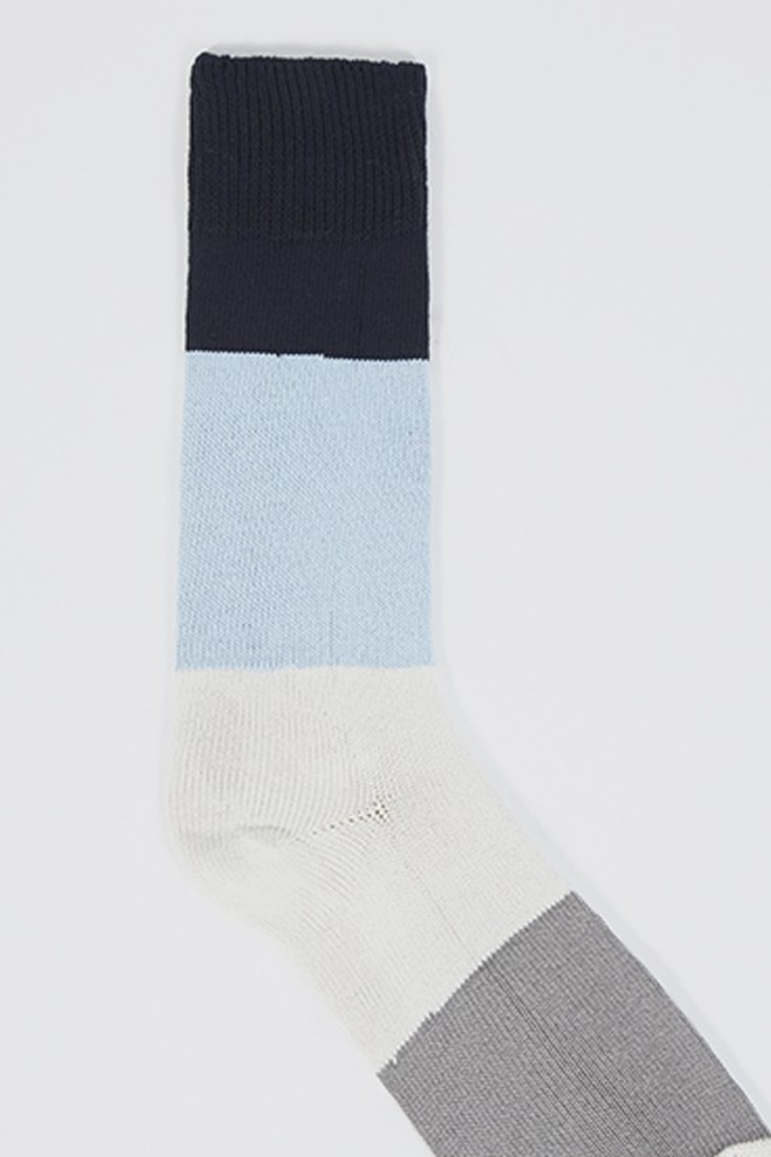 UNIVERSAL WORKS / Bold stripe sock Navy