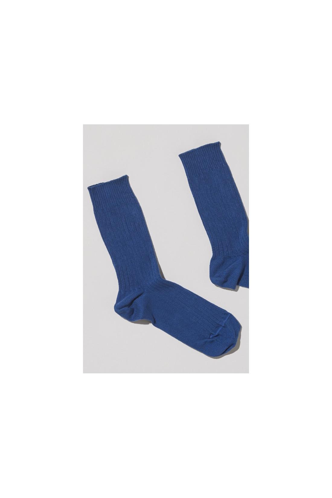 BASERANGE FOR WOMAN / Rib ankle socks Tang blue