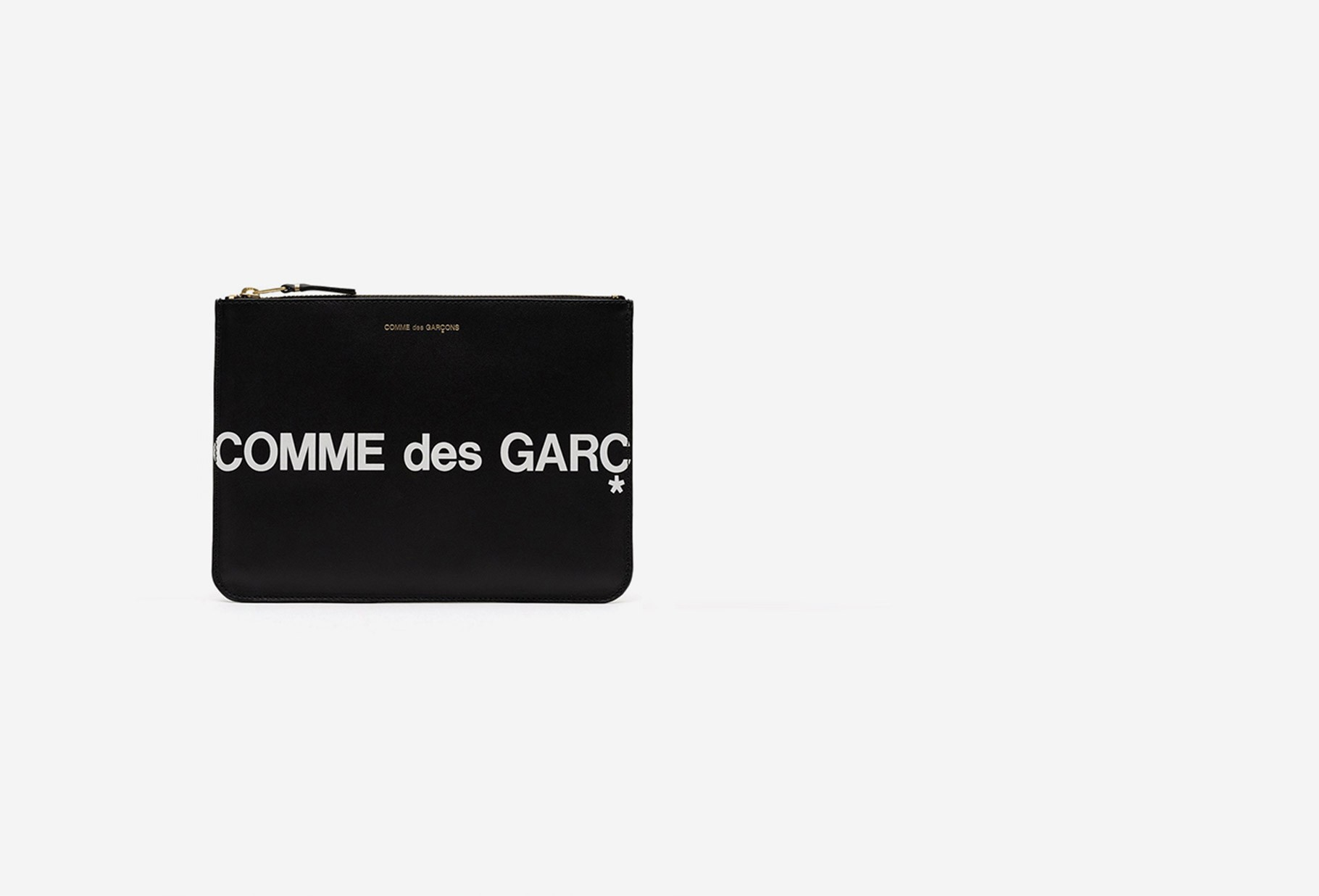 CDG WALLETS / Cdg huge logo wallet sa5100 Black