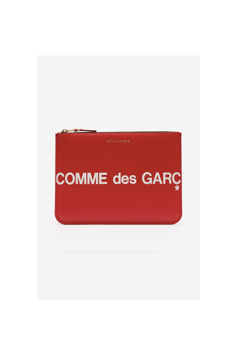 Cdg huge logo wallet sa5100hl Red