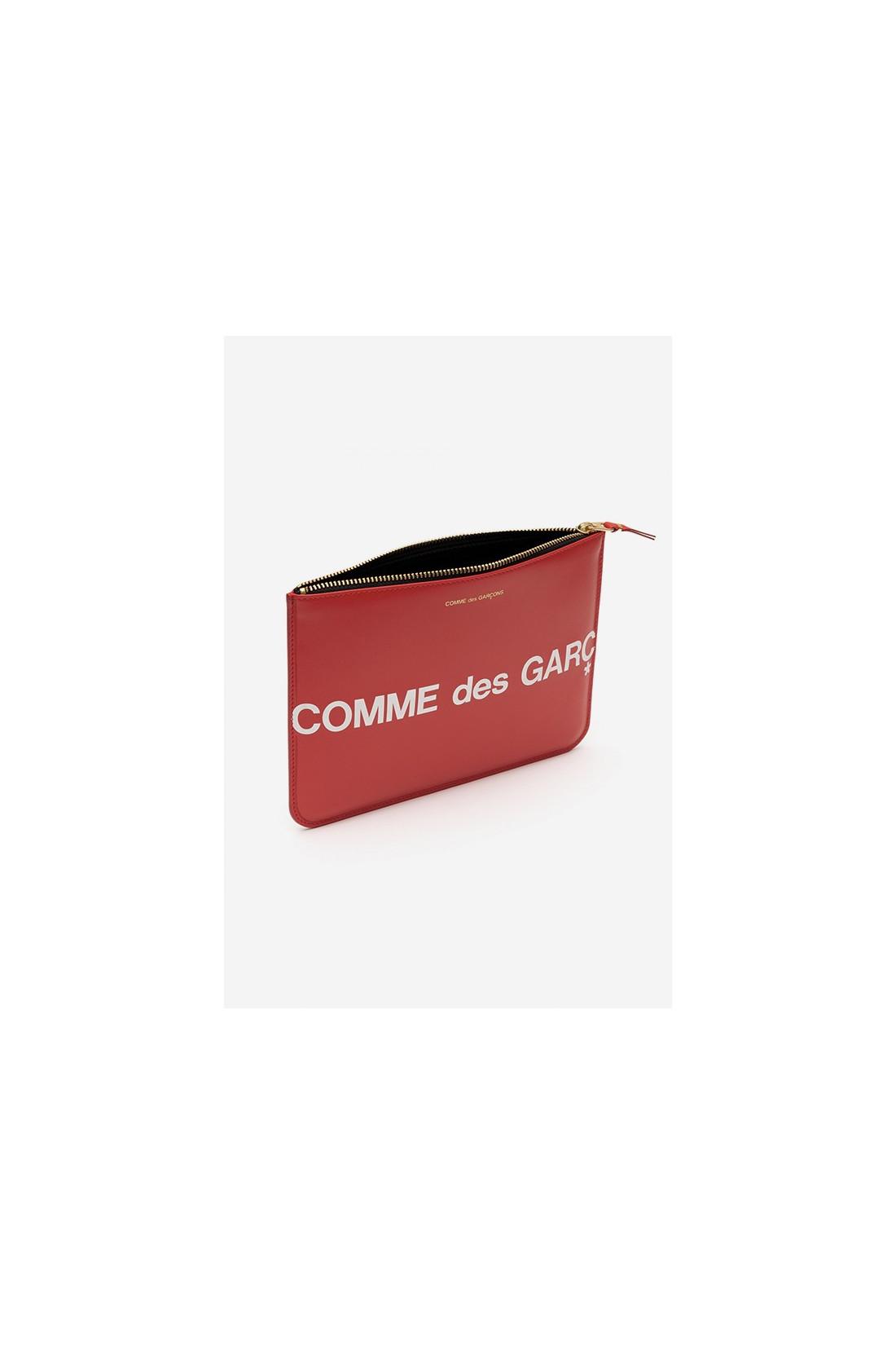 CDG WALLETS / Cdg huge logo wallet sa5100hl Red