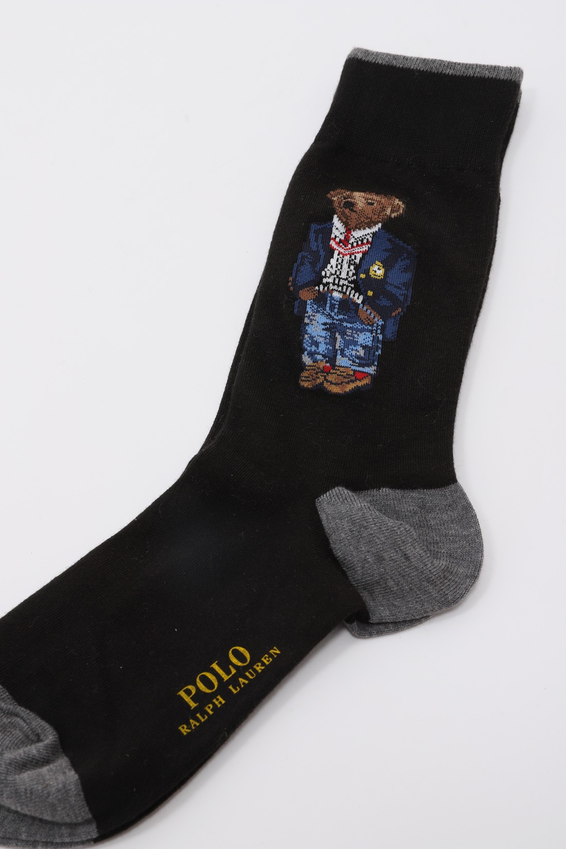 POLO RALPH LAUREN / Teddy bear socks crest Black