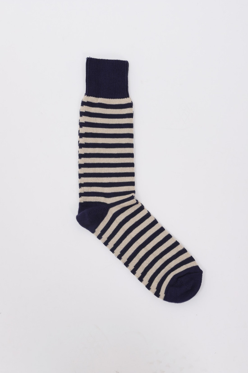 Stripe socks Navy