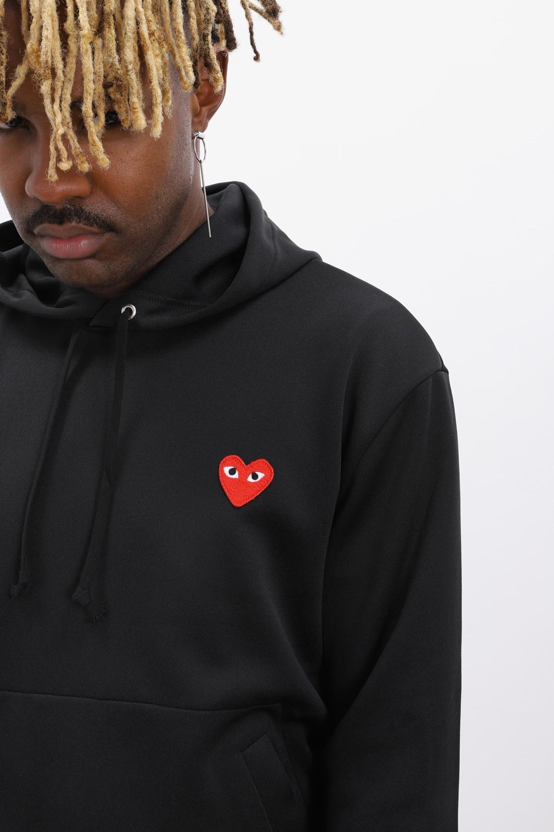 COMME DES GARÇONS PLAY / Play hooded sweatshirt Black
