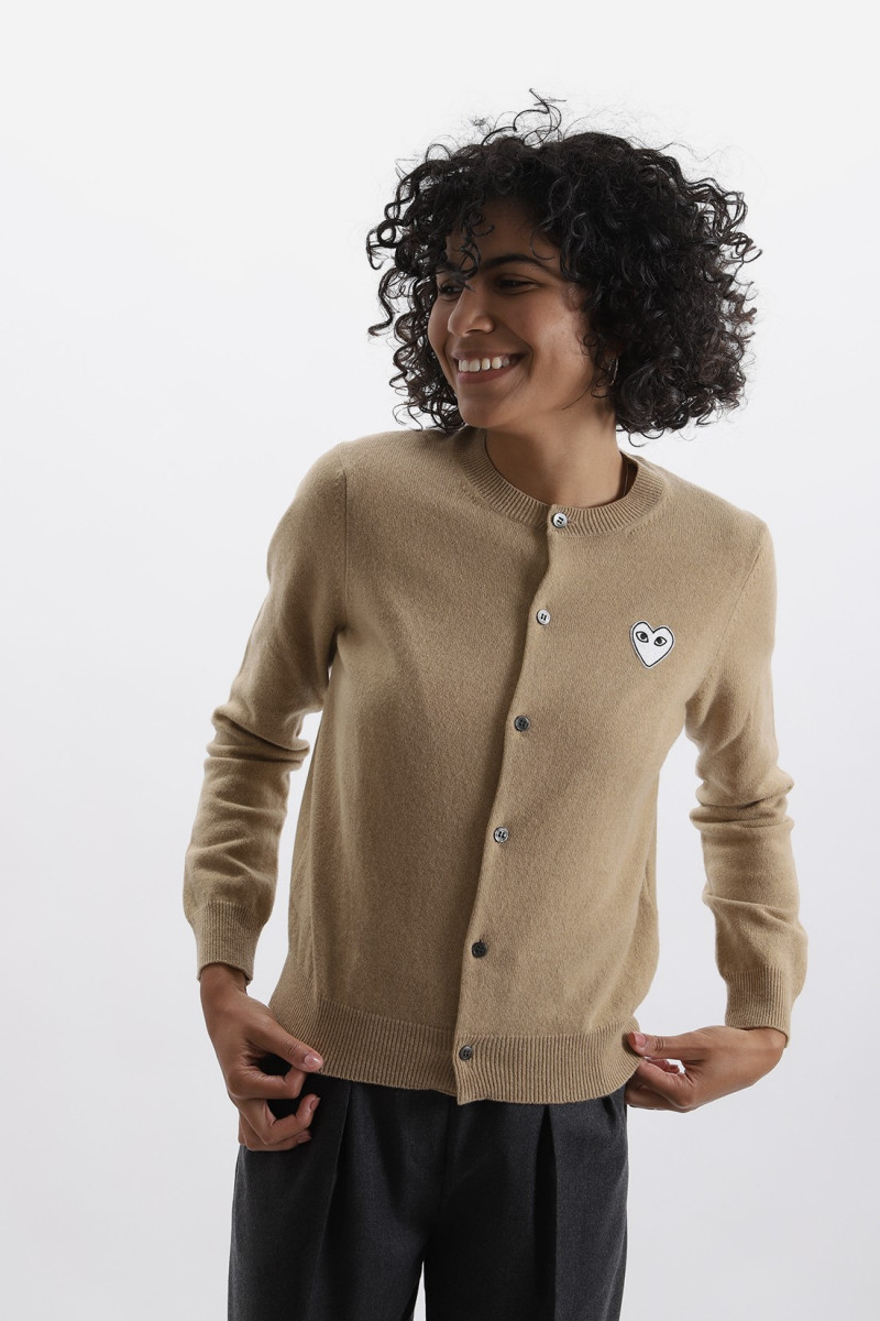 Red play cardigan Camel