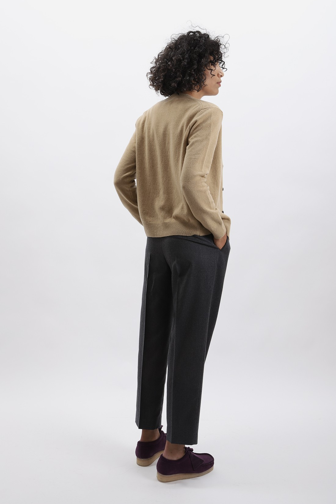 COMME DES GARÇONS PLAY / Red play cardigan Camel
