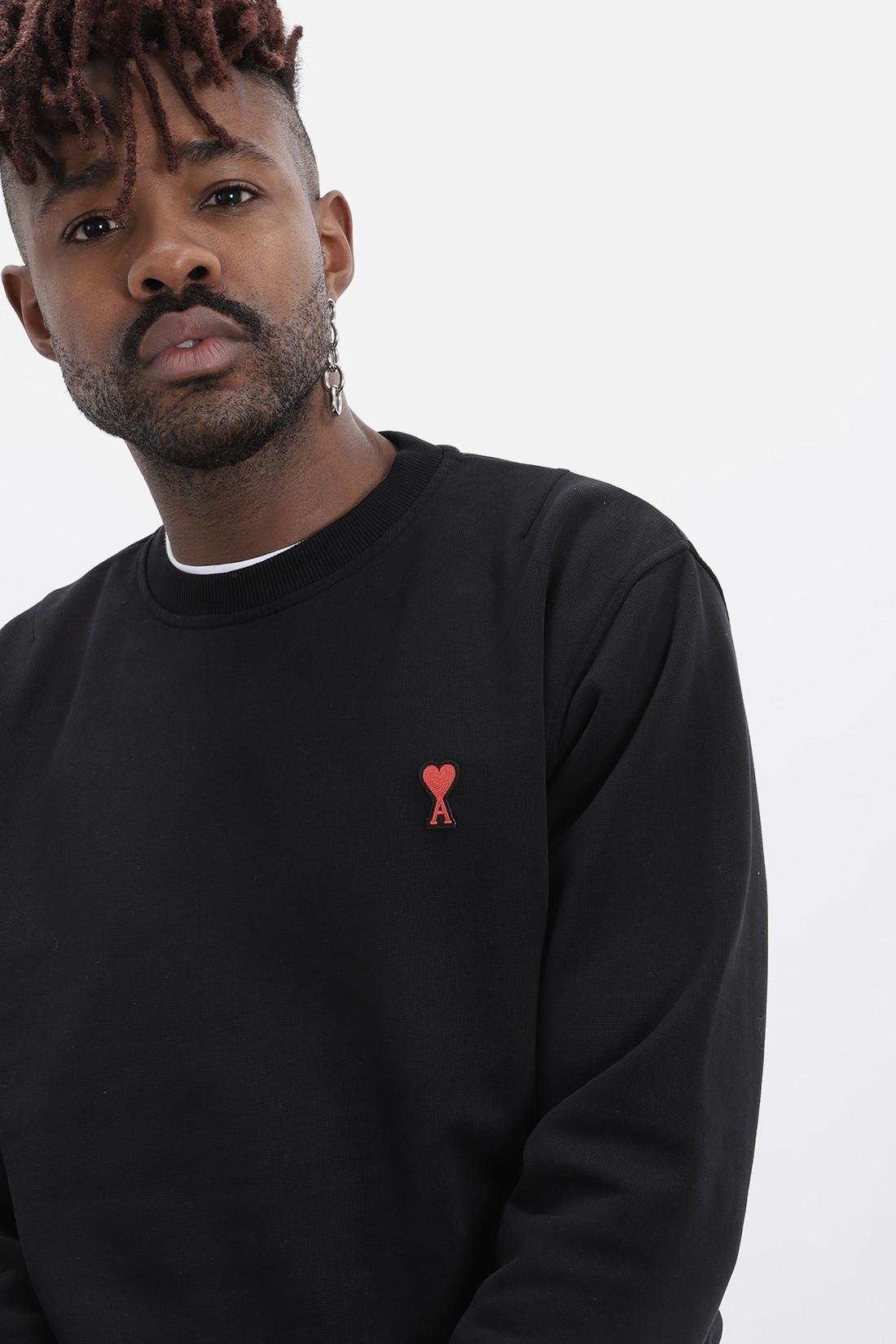 AMI / Sweatshirt ami de coeur Noir