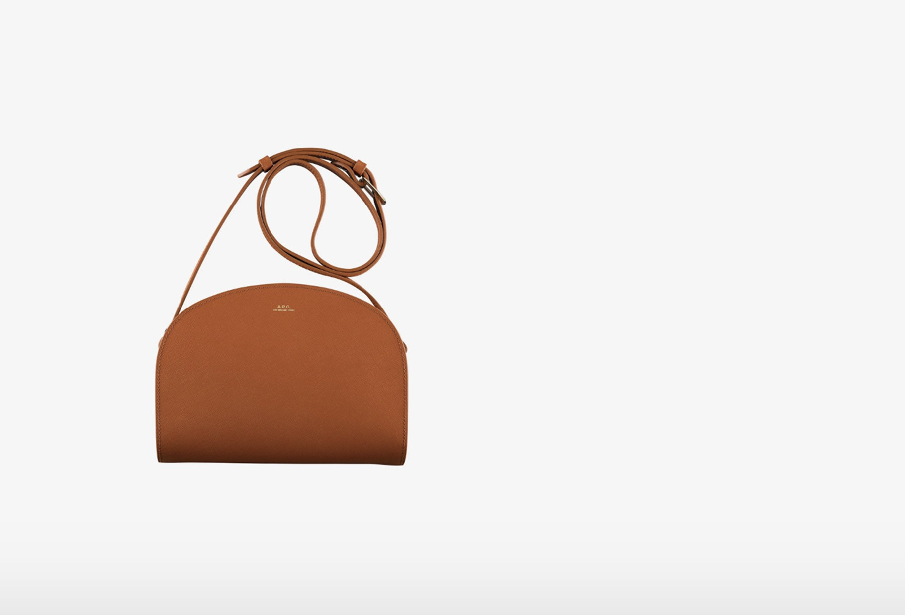 A.P.C. FOR WOMAN / Sac demi-lune embosse Ginger