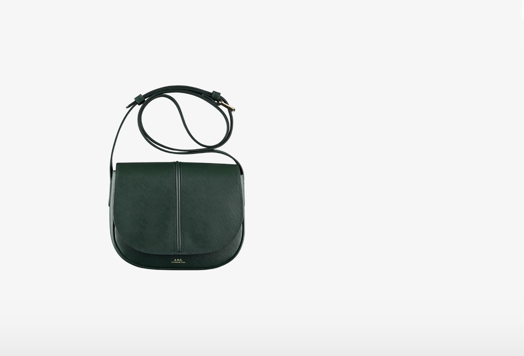 A.P.C. FOR WOMAN / Sac betty cuir embosse Vert sapin