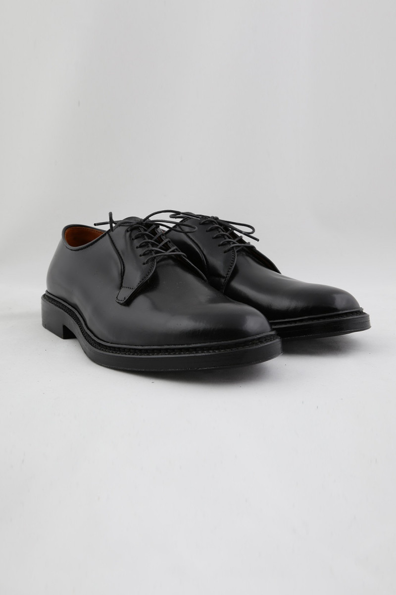 9901 plain toe blucher oxford Cordovan black