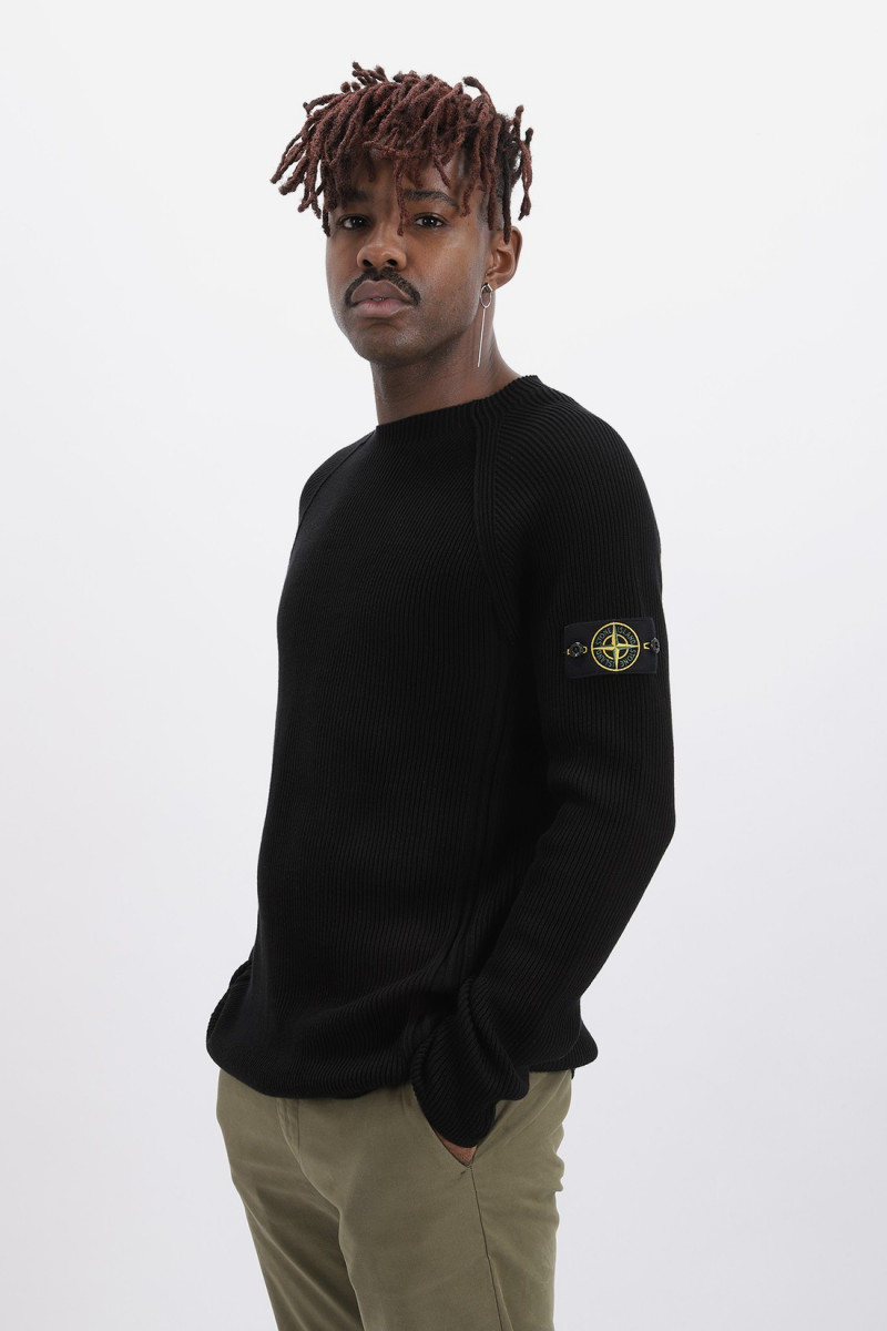 563d8 crewneck knitwear v0029 Nero