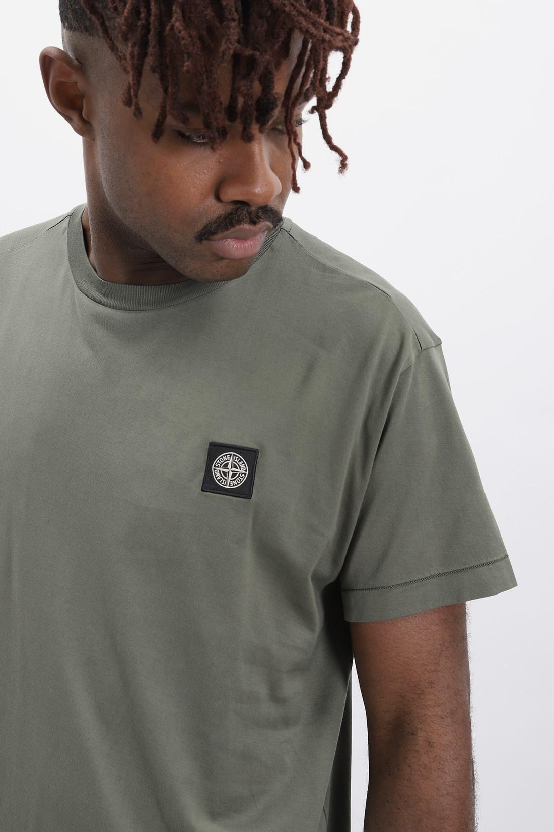 STONE ISLAND / 24113 logo t shirt v0058 Verde oliva