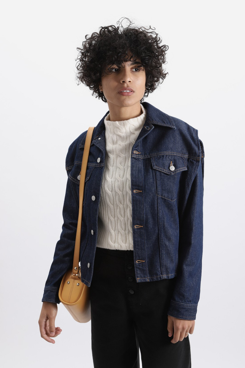 Removable sleeve jacket Denim
