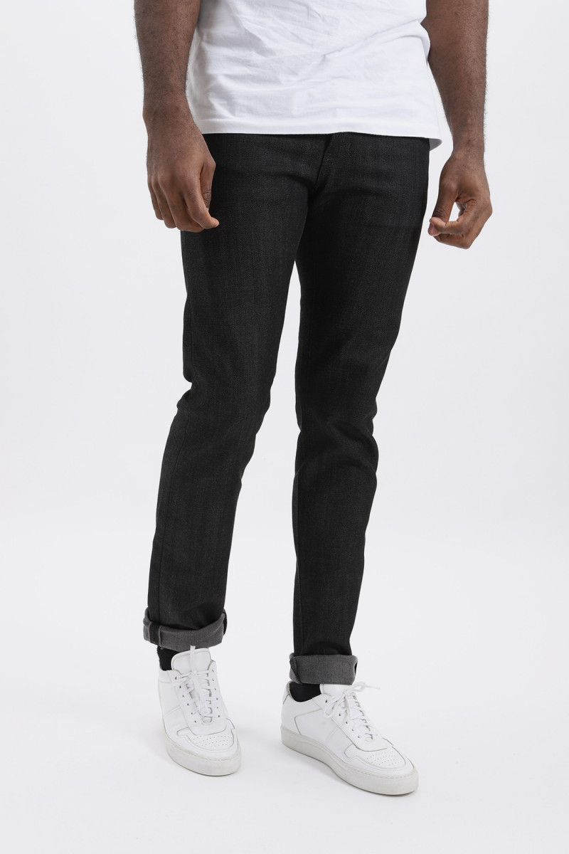 Super guy stretch selvedge Black grey