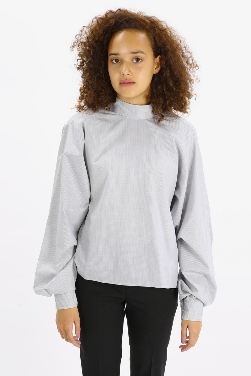 High collar shirt Grey