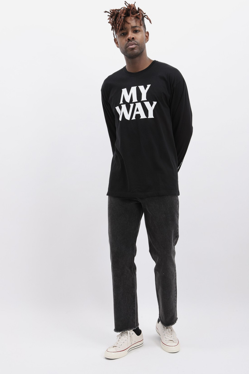 My way / c-tee . ls Black